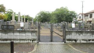 尼崎市栗山墓地の墓地内写真
