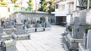 尼崎市常光寺共同墓地の墓地内写真